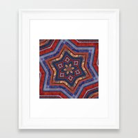 patriotic Framed Art Prints featuring Patriotic Star by Durin Eberhart