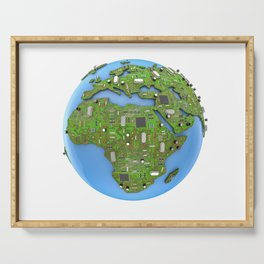 Data Earth Serving Tray