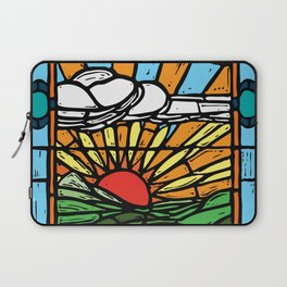Sunrise Stained Glass Window Laptop Sleeve