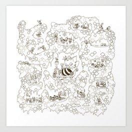 a swarm of bees (벌떼방클럽) Art Print