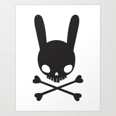 SKULL BUNNY OF PIRATES Art Print