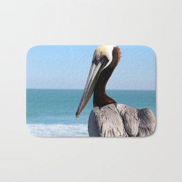 Red Pelican Bath Mat