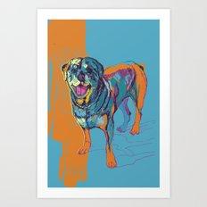 Digital Drawing #32 - Mans best friend Art Print