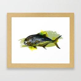 "Jack Crevalle ""All Jacked Up"" Framed Art Print"