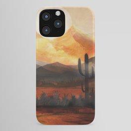 Desert in the Golden Sun Glow iPhone Case