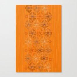 Moroccan silk in orange Canvas Print