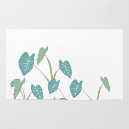 taro leaf hawaii Rug
