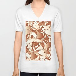 Pattern brown 156 Unisex V-Neck