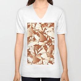 Pattern brown 156 Unisex V-Neck