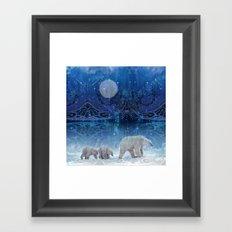 Arctic Journey of Polar Bears Framed Art Print