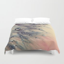 dandelion baby pink and blue Duvet Cover