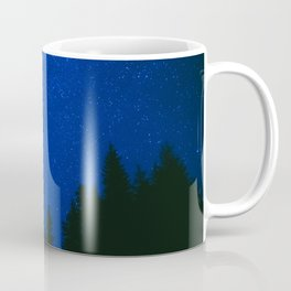 SILHOUETTE OF TREES UNDER BLUE SKY DURING NIGHT TIME Coffee Mug