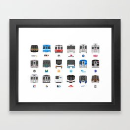 Subway Icons Framed Art Print