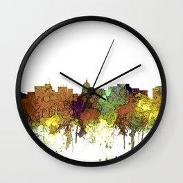 Madison, Wisconson Skyline - Safari Buff Wall Clock