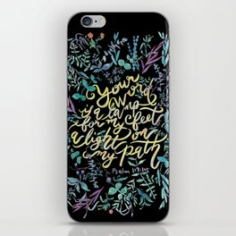 Your Word is a Lamp - Psalm 119:105 iPhone Skin