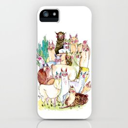 Wild family series - Llama Party iPhone Case
