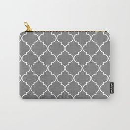 Quatrefoil - Gray Carry-All Pouch
