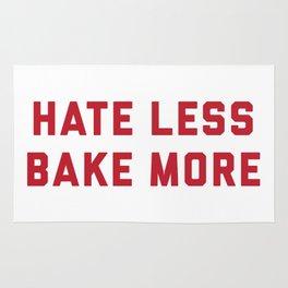 Hate Less Bake More Rug