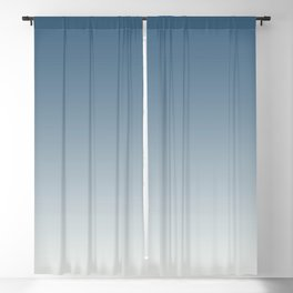 Blue & Off White Gradient Ombre Blend Inspired by 2020 Color of the Year Chinese Porcelain PPG1160 Blackout Curtain