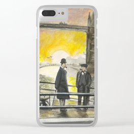 Evening By Tower Bridge Clear iPhone Case
