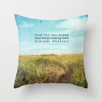 destiny Throw Pillows featuring destiny by Sylvia Cook Photography