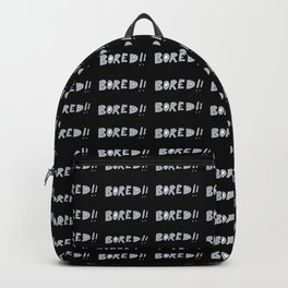 Bored Comic Style Word Typographic Pattern Backpack