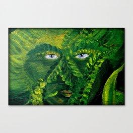 Garden Guardian Hurricane Gnome Canvas Print