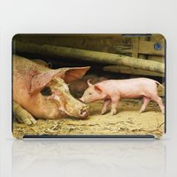 piglet iPad Cases featuring Mamma by Madison Webb