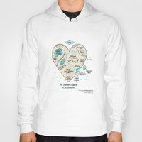 gemma correll Hoodies featuring A Map of the Introvert's Heart by gemma correll
