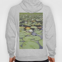 395 - Abstract Lily Pads Design Hoody