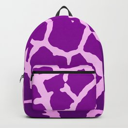 Purple Giraffe Print Backpack