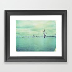 Lake Mulwala Polaroid Framed Art Print