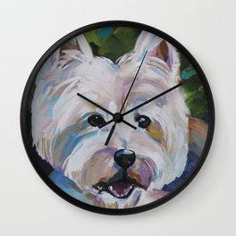 Westie Impressionism Pet Portrait Larsen 1 Wall Clock