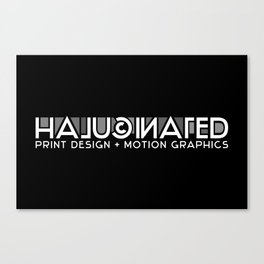 Halucinated Logo Canvas Print