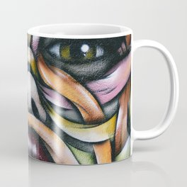 Ribbon Girl Graffiti Wall Art Coffee Mug