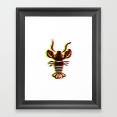 Lobster Confusion Framed Art Print