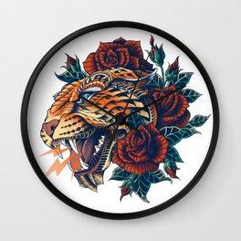 Ornate Leopard (Color Version) Wall Clock