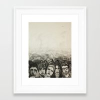 it crowd Framed Art Prints featuring Crowd by Kelly Taylor Mitchell