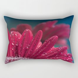 Gerbera Red Jewel Rectangular Pillow