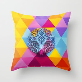 Deer-tree Throw Pillow