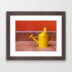 Teracotta Watering Can  Framed Art Print