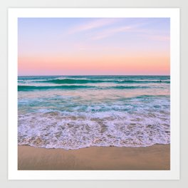 Ocean and Sunset Needed Art Print