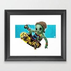 Area 51 Skate Park Framed Art Print