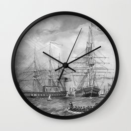 U.S. Naval Fleet During The Civil War Wall Clock