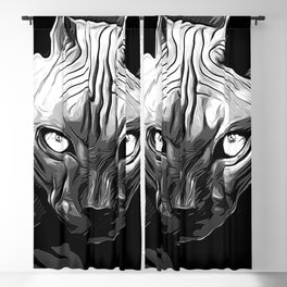 sphynx cat from hell vabw Blackout Curtain