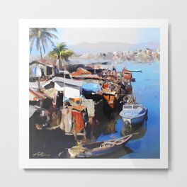 Downtown Cap Haitian Metal Print