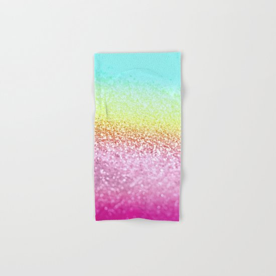 UNICORN GLITTER Hand & Bath Towel