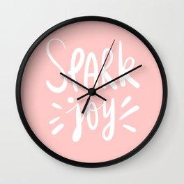 spark joy / pink Wall Clock