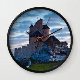 Medieval castle in Bobolice, Poland Wall Clock