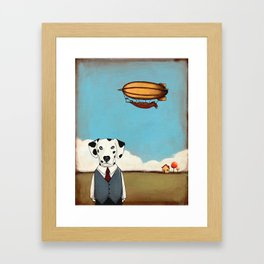 The Dog and The Blimp anthropomorphic  Framed Art Print